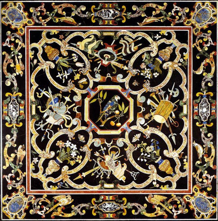 Орнамент барокко. Столешницы в технике флорентийской мозаики (PIETRA DURA). Обсуждение на LiveInternet - Российский Сервис Онлайн-Дневников