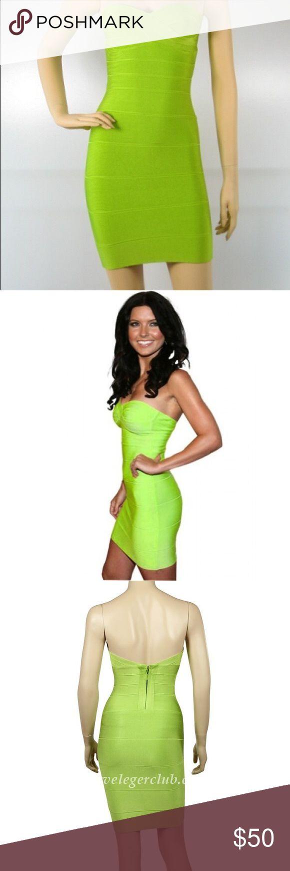 Lime Green Bandage Dress sz S. Final price! Lime Green Bandage Dress sz S. Worn once. Excellent condition meilun Dresses Mini