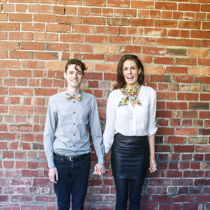 Pop Art Floral bow tie and Shorty Sailor Tie.  http:///www.bties.com.au