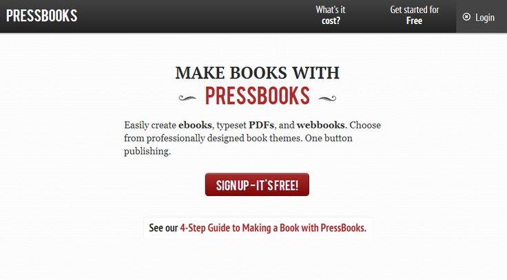 ONE: PressBooks: plataforma de código abierto para crear y publicar libros