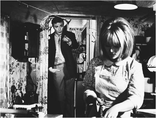 Michael Caine with Julie Foster in Alfie 1966.