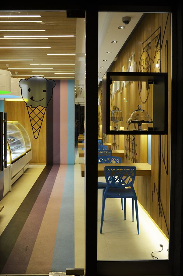 New ice cream shop in Belgrade, Serbia!GELATO FREDDO