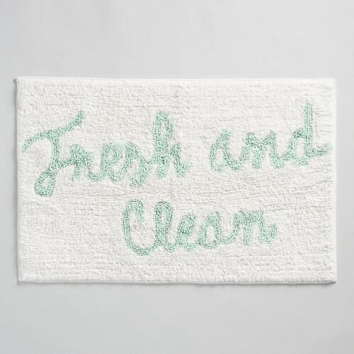 One of my favorite discoveries at WorldMarket.com: Fresh and Clean Tufted Bath Mat