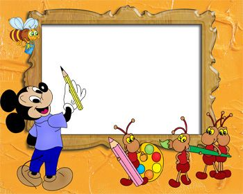 Mickey Painting Photo Frame