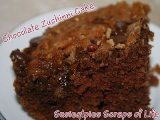 Chocolate Zucchini Cake and Low Carb Zucchini Cake recipes