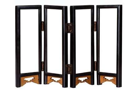 A folding screen room divider is a great way to add privacy to a room that otherwise doesn't have any.