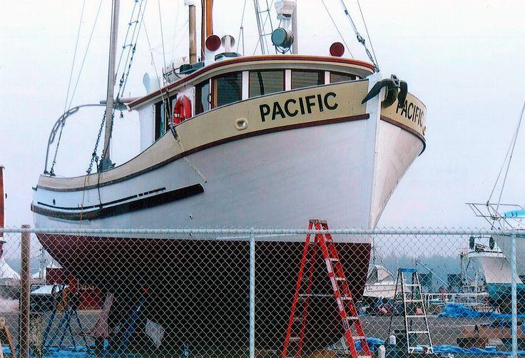 small converted fishing trawler