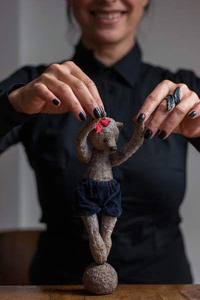 Girl on the ball By Zhanna Zimokosova - Bear Pile