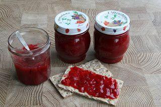 Recept - De keuken van Johanna: Rode bessen-rabarber jam - met Zonnigfruit
