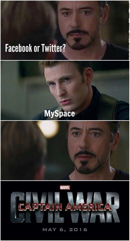 Ha ha MySpace Civil War Meme