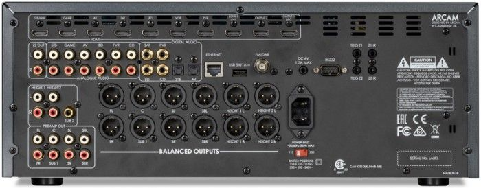 With its finely honed technical specification and its world class audio performance combined, the Arcam FMJ AV860 AV Pre-Amp Processor makes its name as one of the leading AV receivers available in terms of high quality performance. Connections.
