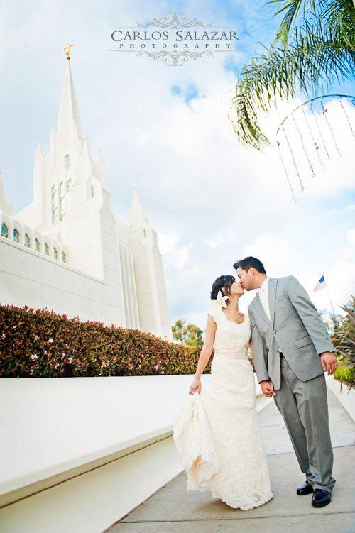 Wedding Photography San Diego Temple CA