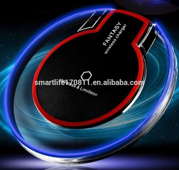 Black/white Qi Standard Ultra-Slim UFO Shape Crystal Clear Fantasy Wireless Charging Pad with LED for Samsung Galaxy S6