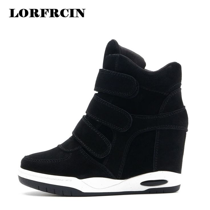 Cheap shoes for women, Buy Quality wedge heels directly from China shoes woman shoes women Suppliers: Hot sale Autumn Style Women Shoes Hidden Wedge Heels Boots Women's Elevator Shoes Casual Shoes For Women Ankle Boots LORFRCIN