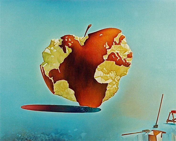 MOTHER EARTH – ( fragment ) oil painting - 100Χ150,1983. – ΜΗΤΕΡΑ ΓΗ. «Ἡ πάντοτε ἐσθιώμενη καί μηδέποτε δαπανώμενη» ( ἀπόσπασμα ) . Ἐλαιογραφία 100Χ150, 1983. Paintings by Aristomenis Tsolakis, Athens.