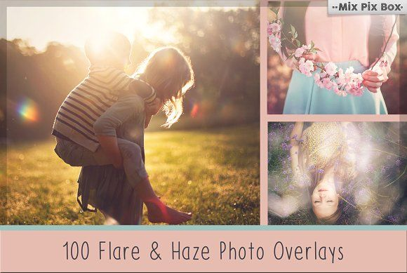 100 Sun Flare & Haze Overlays by MixPixBox on @creativemarket