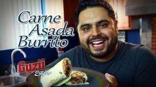 carne asada burrito - YouTube