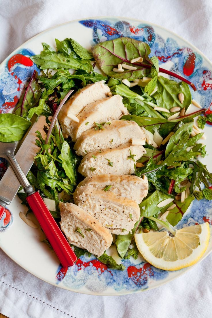 Boneless, skinless chicken breasts (aka BSCBs) — is there anything more boring? They are all too often overcooked until dry and chewy, and I generally prefer more succulent boneless, skinless thighs. But for lunch and dinner favorites like chicken Caesar salad and chicken pasta, sliced juicy chicken breasts can't be beat. They're a great staple for quick lunches, too. Fortunately I have one method that makes unfailingly juicy and tender boneless, skinless chicken breasts. Need some chicken…