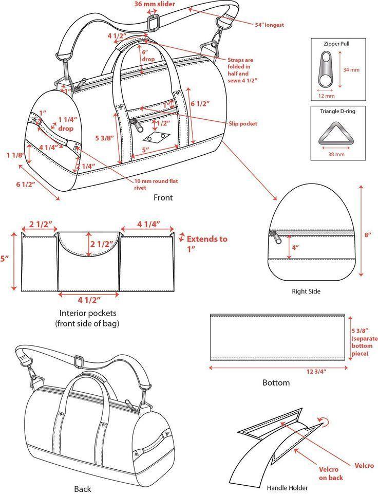 Dies Ist Ein Kleines Beispiel Meiner Arbeit Im Technischen Design Modische Taschen Bags Dies Ist Ein Kleines Beispiel Leather Handbags Leather Duffle Purses