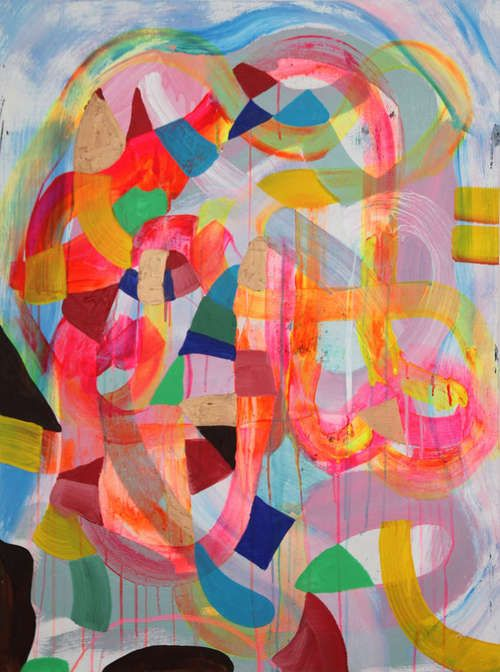 "Maya Hayuk  Untitled, 2012  101,5x76cm (40""x30""), acrylic on panel"