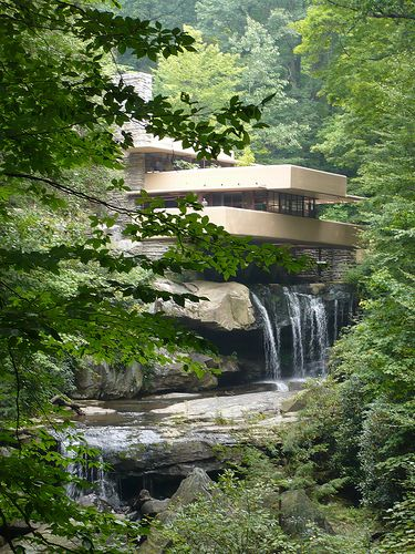 Fallingwater !! Frank Lloyd Wright (1936). one of the most beautiful sights one could ever see. been there twice :)