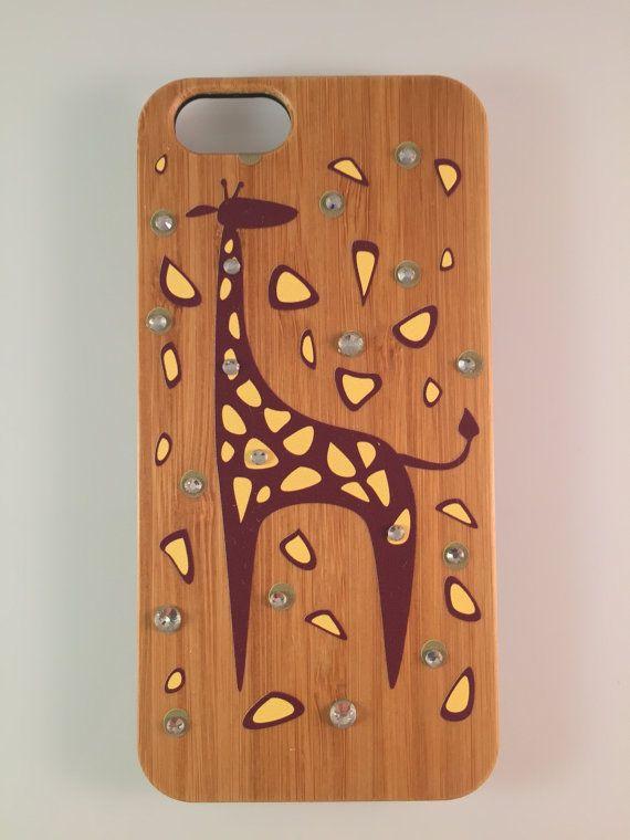 Giraffe IPhone 6 Plus Bamboo Case, Wood IPhone Case, Giraffe IPhone Case