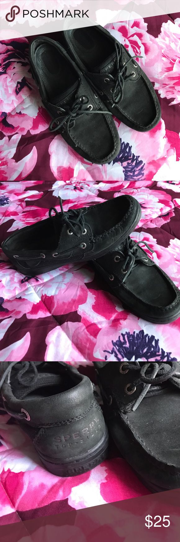 Authentic all black Sperry's Barely worn good condition all black Sperrys Sperry Top-Sider Shoes Flats & Loafers