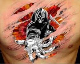 Grim Reaper Tattoos And Meanings-Grim Reaper Tattoo Designs And Ideas-Grim Reaper Tattoo Pictures