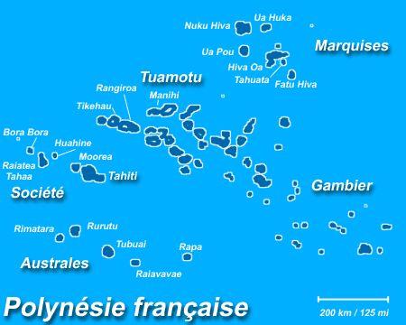 La Polynésie Française: cartes
