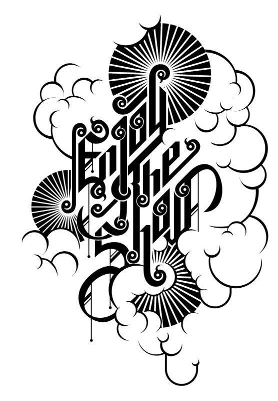 """Enjoy the Show"" Typography by Alex Trochut, via Behance"