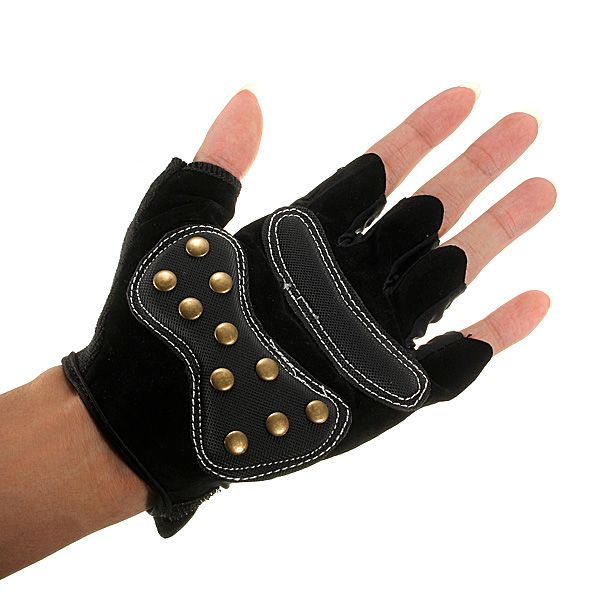 Bici medio dedo guantes de ciclismo bicicleta montando guantes patinetas