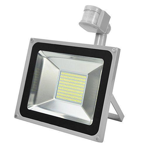 CSHITO IP65 30W / 50W / 100W /150W / 200W / 300W LED Projecteur Lumière avec détecteur de mouvement – [Classe énergétique A++] – Blanc…