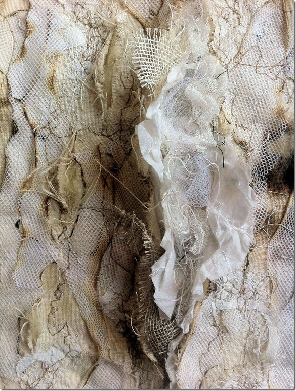 Create texture with fabric manipulation. This fabric manipulation is inspiring for my flotsam and jetsam project.
