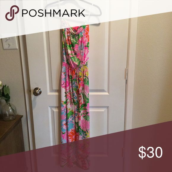 Lilly for Target Maxi Dress XS EUC Size XS Nosey Posey Maxi Lilly Pulitzer for Target Dresses Maxi