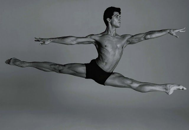 Roberto Bolle doing a Grand Jete.