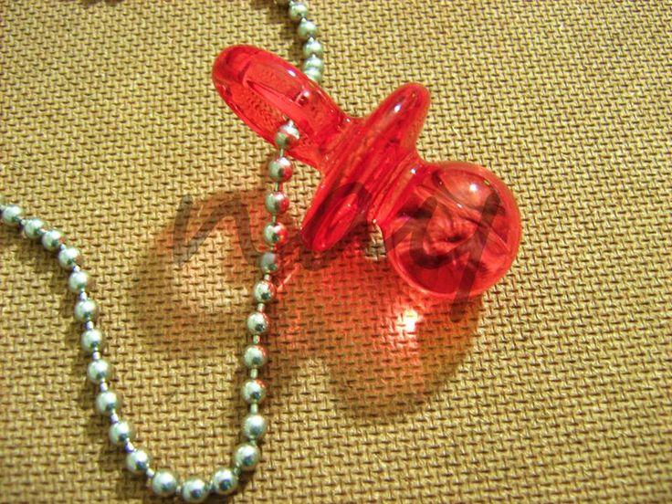 Handmade  metal chain glass tetine necklace NK14 from Nay Handmade by DaWanda.com