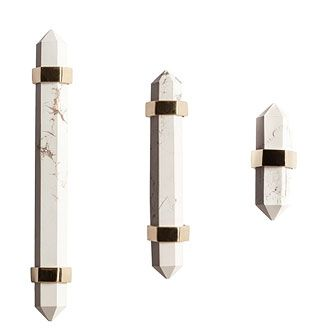 MARBLE + BRASS HARDWARE PULL