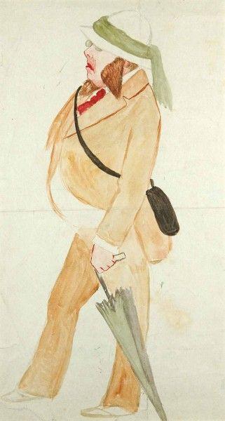 ВИЛЬЯМС, ПЕТР ВЛАДИМИРОВИЧ (1902 - 1947). Эскиз костюма  к спектаклю по роману…