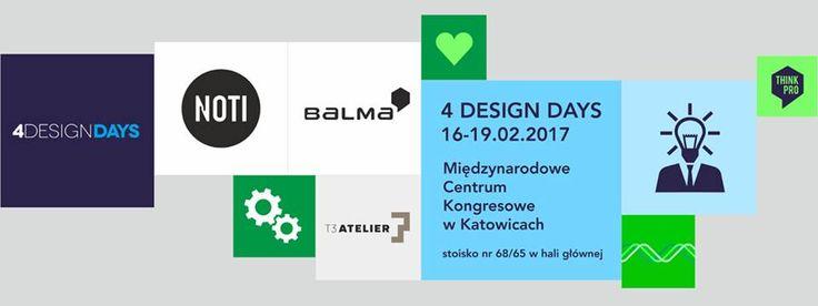 Zapraszamy na 4 Design Days w Katowicach 16-19 luty 2017 w MCK. #4designdays #design #katowice #Balma #Noti