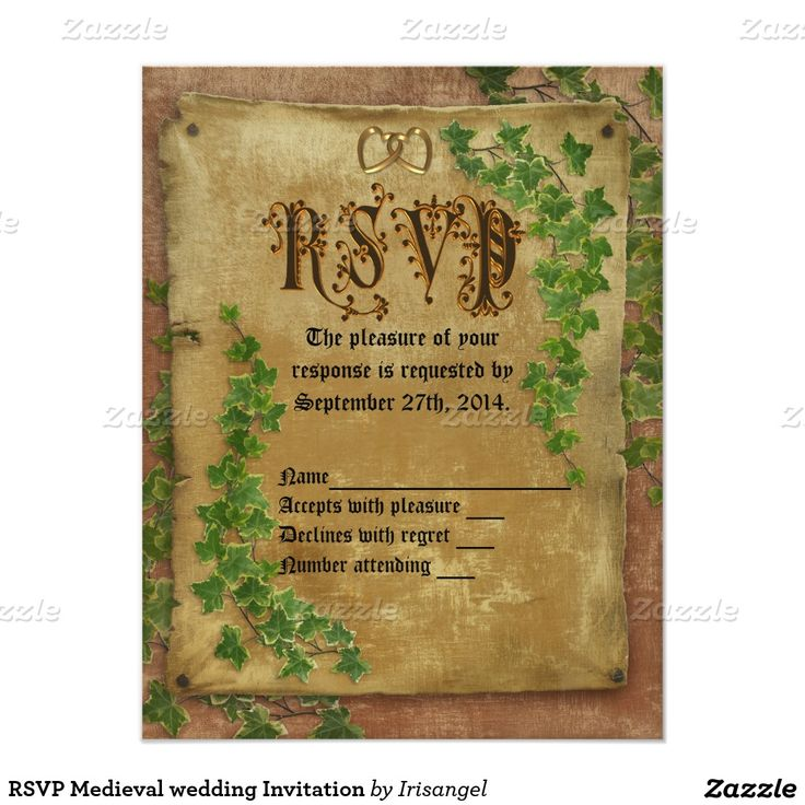 28 best medieval wedding invitations images on pinterest medieval rsvp medieval wedding invitation stopboris Image collections