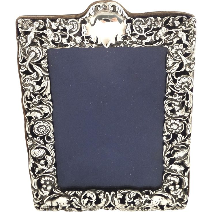 antique victorian sterling silver photo frame 1896. Black Bedroom Furniture Sets. Home Design Ideas