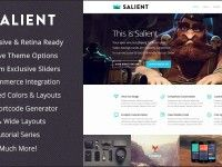 Salient is a multipurpose responsive theme available with retina ready designs, wide boxed layouts to design any type of website. It supports video backgrounds, touch friendly sliders and tones of useful short-codes. Check it out for more : http://nulledstylez.com/salient-responsive-multi-purpose-theme-v2-5-1/