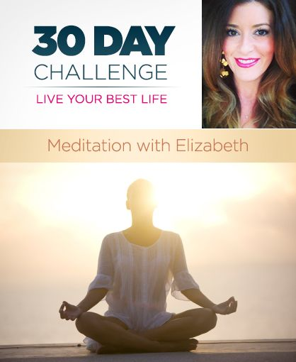 """This is a 30 day meditation challenge. Meditation is the best for the mind, body and soul. - I already try to do it every day, but this could be useful in keeping me accountable on the days I """"don't have time""""."""