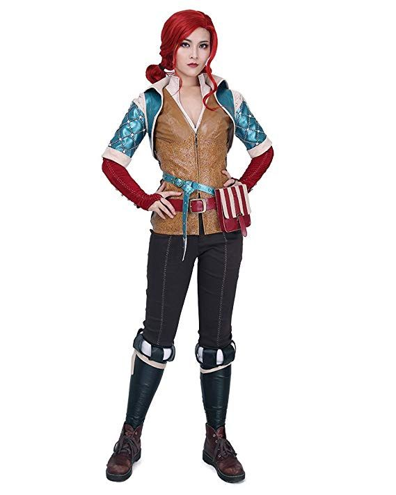 6be32bcb47093f Miccostumes Women's Triss Merigold Cosplay Costume Outfit (M) - mardi gras  outfit casual costume