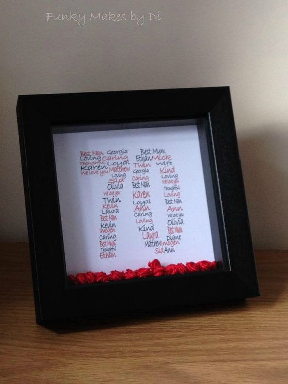 Personalised Birthday Word Art Design and Frame by FunkyMakesbyDi