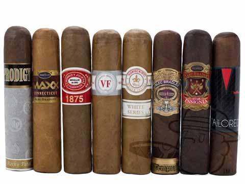 Cigars - Top Shelf Robolo Sampler - BCP's exclusive size: Robolo - 4.5x60 Alec Bradley, Rocky Patel, Montecristo, Vega Fina, Tempus, Maxx, Romeo y Julieta