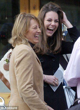 Kate and mother, Carole Middleton.  I can just hear a snort coming out.