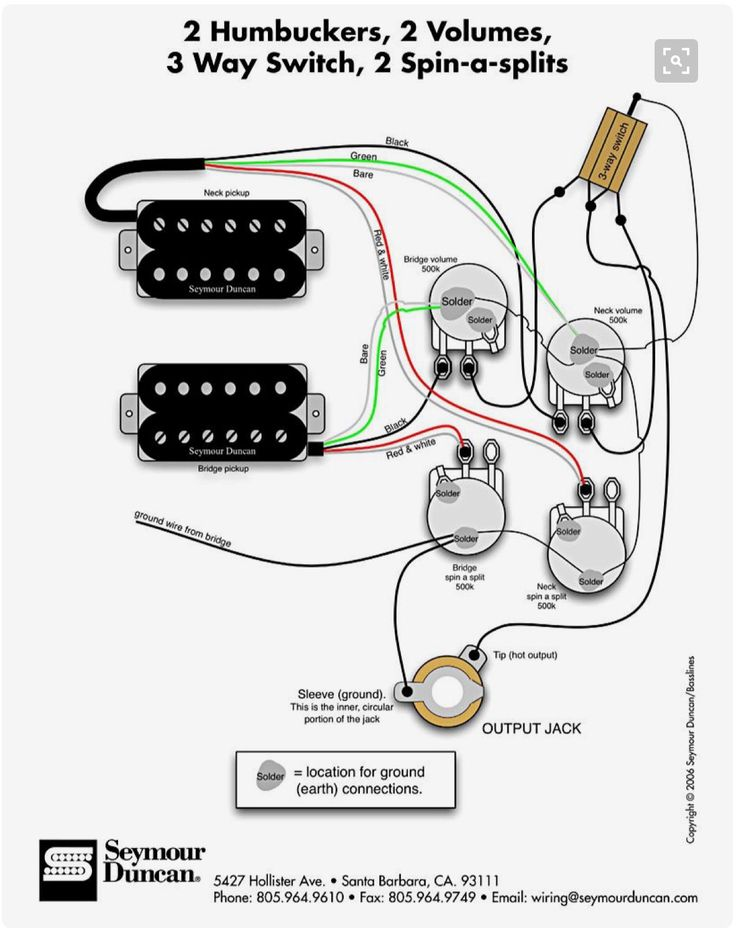 c21ac398d903aa9590f04fd797c36bdd guitar pickups circuit diagram 8 best guitar wiring images on pinterest electric guitars Seymour Duncan Humbucker Wiring Diagrams at nearapp.co