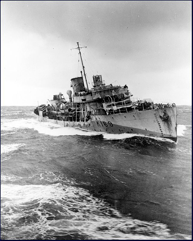 HMCS Rosthern - The cargo ship INGRIA was torpedoed and damaged in the Atlantic Ocean (45°12′N 39°17′W) by U-600 ( Kriegsmarine). She was abandoned by her 37 crew and was then scuttled by U-628 ( Kriegsmarine). The crew were rescued by HMCS Rosthern