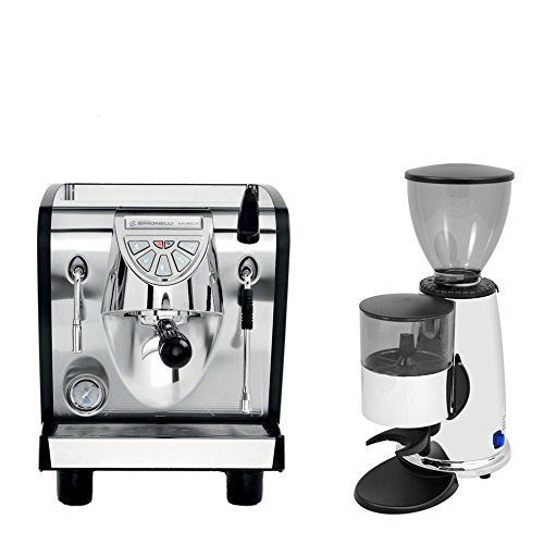 Nuova Simonelli Musica Black Plumbed Free Installation Programmable Espresso Coffe Machine  Macap M2C83 Chrome Doser Grinder ** Click image to review more details.